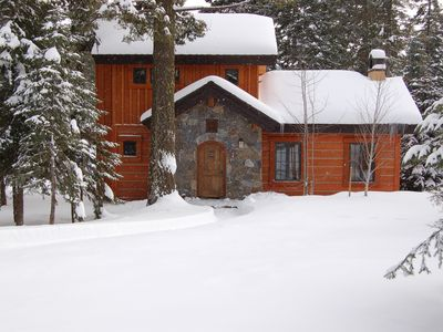 Tamarack cottage rental - The snowy bliss of Rock Creek Cottage #3.