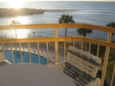 Ocean Creek condo rental - Patio off of family room and master bedroom. Overlooks ocean and outdoor pool.