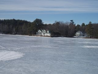 Bridgton house photo - Lake in the winter