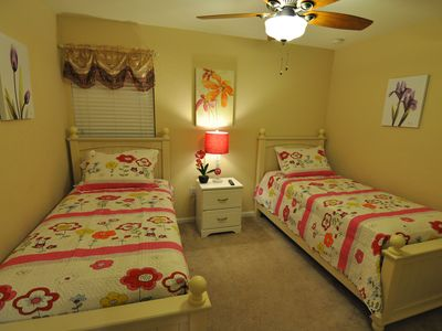 "Bedroom 5 - 2 twin beds with 32"" LED TV"