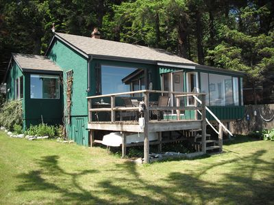 Driftwood Cottage with two bedrooms, hide-a-bed, patio, and with all amenities.