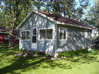 Howard Lake cabin photo - Cabin before decks were added in 2012