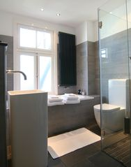 Bath room, with extra large bath - East Amsterdam apartment vacation rental photo