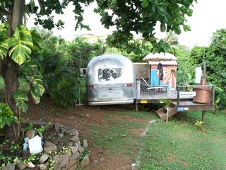 Vieques Island house photo - Vintage airstream with ac, wifi, private deck, outdoor shower and expansive view