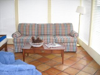 Isle of Palms house photo - Sunroom with Sofa and Futon.