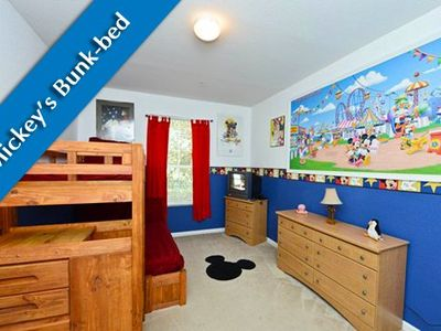Popular Kids Disney Themed Bunk room!