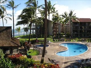 Kaanapali condo photo - Two pools, spas and cabanas with 12 barbeques