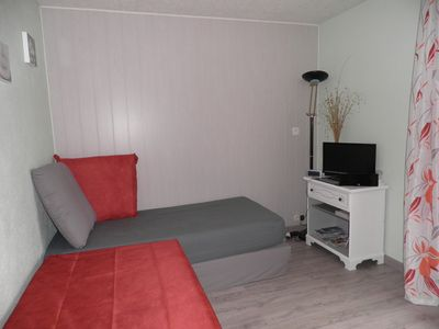 Cheap accommodation, 18 square meters, with terrace