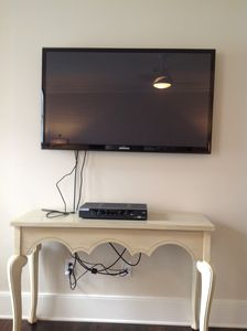 TV and Cable box in Master Bedroom, King Bed