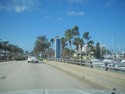 Driving over Memorial Causeway Bridge into Clearwater Beach