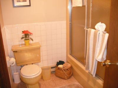 Bartlett condo rental - Full bathroom off the first bedroom