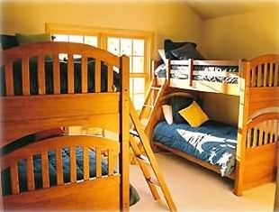 Double Bunk Bedroom with Cable TV