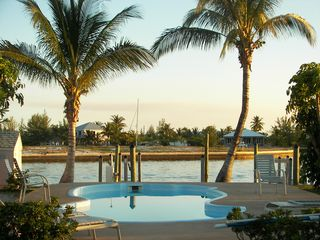 Treasure Cay condo photo - Sunsets on the pool