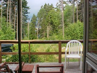 Seal Cove house photo - view from screened porch