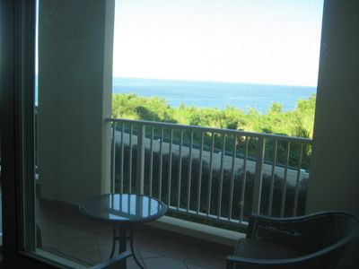 Ocean View from Living Room Window and Balcony