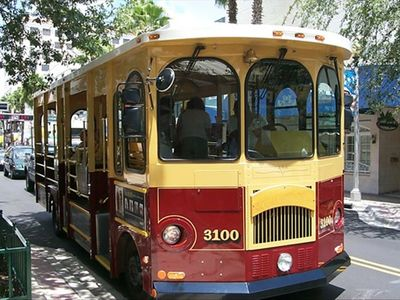 The free downtown trolley