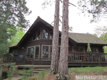 Park Rapids cabin rental - Beautiful Cabin! Deck with Picnic Table overlooks Big Sand