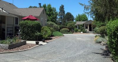 Iva's Garden house on the left and Iva's Cottage in back on right