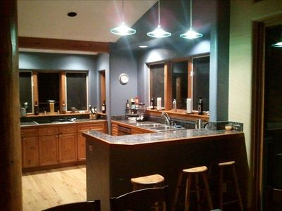 night time view of amazing kitchen...!