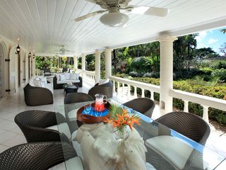 Sandy Lane villa photo - The cottage covered terrace has plenty of comfortable seating and a dining table
