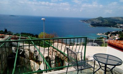 Lovely traditional stone house in Mlini with amazing sea view for 4-6 persons