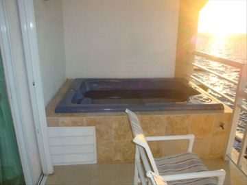 Private Hot Tub on your terrace, Sunsets included