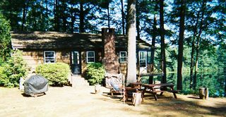 Lake Winnisquam cottage photo - Ephraim Cabin outside