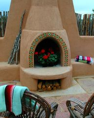 Taos house photo - Enjoy the outdoor fireplace