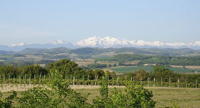 Views of the Pyrenees from the house