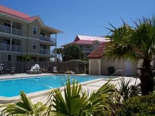 Navarre Beach condo photo - Beautiful Pool w/Tropical Water Views