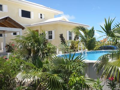Little Exuma villa rental - rear of property