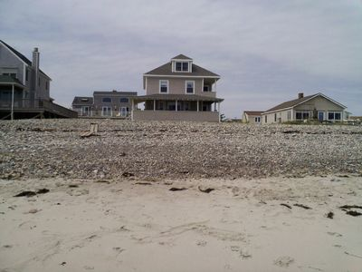 Huge house right on the ocean on Humarock beach.