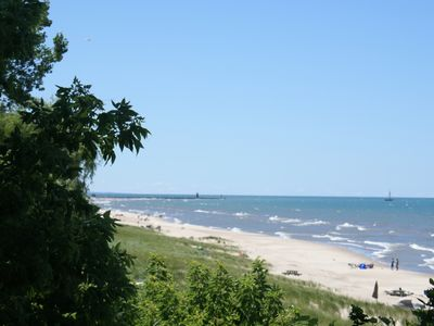 Lake Michigan view south