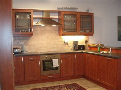Kitchen with All Appliances; Microwave, Coffee Maker, Toaster, Kettle, Etc.