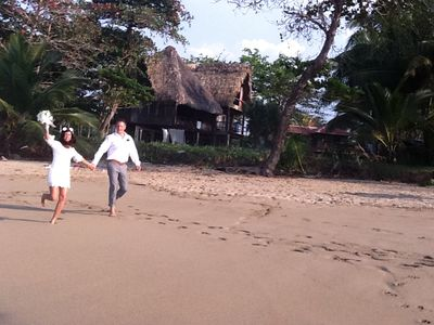 Cabarete estate rental - wedding on the beach at Casa Maravilla