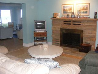 Oscoda house photo - Family Room-views of the lake & natural fire place