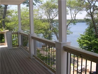 View of the water from the deck