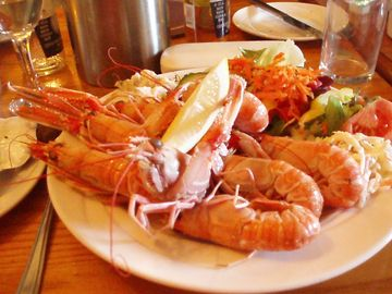 Fresh Prawns at Stein Inn, Waternish