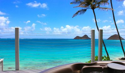Stunning view from the hot tub