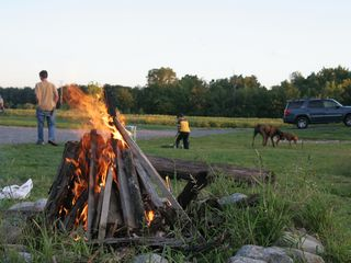 Geneva cabin photo - One of 5 campfire areas at Cobtree