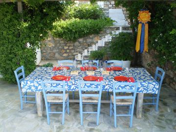 Dining table on the main terrace
