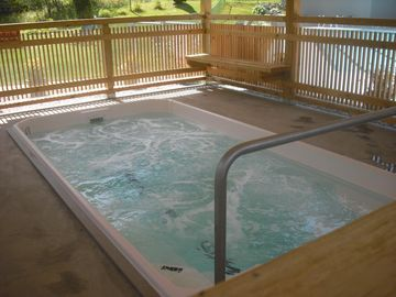 Outdoor hottub.