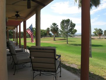 Needles house rental - Amazing view from the back porch- Seats for 4