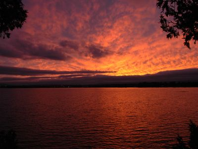 Plattsburgh cabin rental - A September sunset.