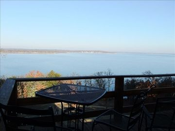 Lake Texoma house rental - View from the rear deck and gameroom.