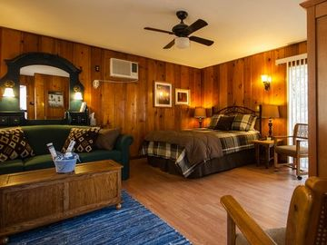 Three Rivers cabin rental - The Live Oak sleeps four in a queen and full sofa.
