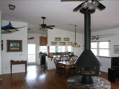 Dining and Kitchen Areas overlooked by Billy the Marlin.