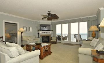 South Beach Ocean City condo rental - Oceanfront Grand Living Room