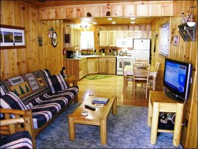 Open Layout Between the Living Room and Kitchen in the Back Cabin