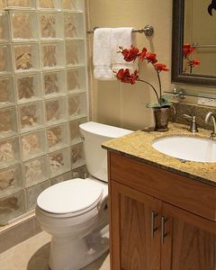 Walk-in showers, new vanities with granite tops. 3 bathrooms in all.